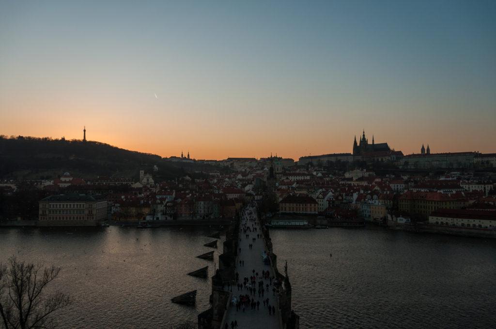 Spaziergang Zum ersten Mal in Prag